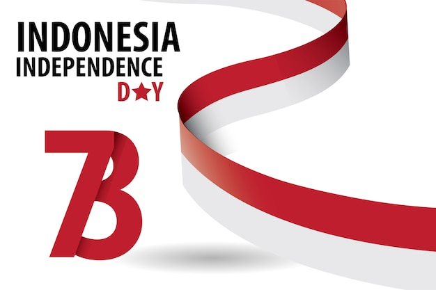 Modèle de fond de jour de l'indépendance indonésienne Vecteur Premium