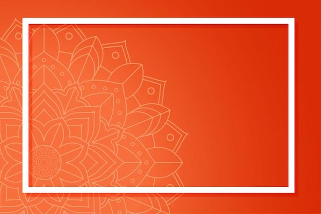Modèle De Fond Avec Mandala Vecteur gratuit