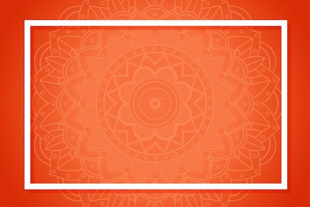 Modèle de fond avec des motifs de mandala Vecteur gratuit