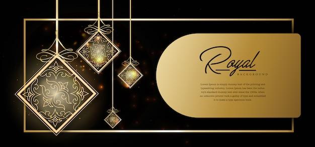Modèle De Fond D'or Royal Vecteur Premium