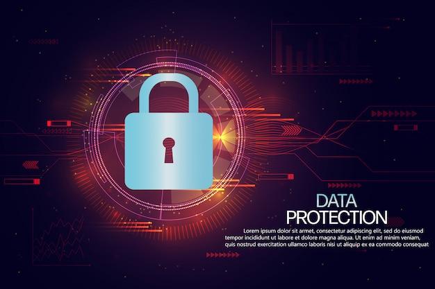 Modèle de fond sur la protection des données et les assurances Vecteur Premium