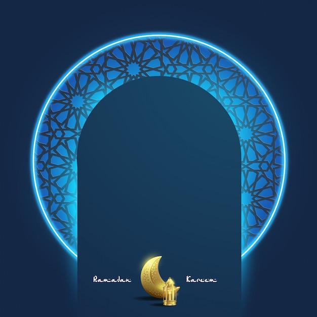Modèle de fond de ramadan karim Vecteur Premium
