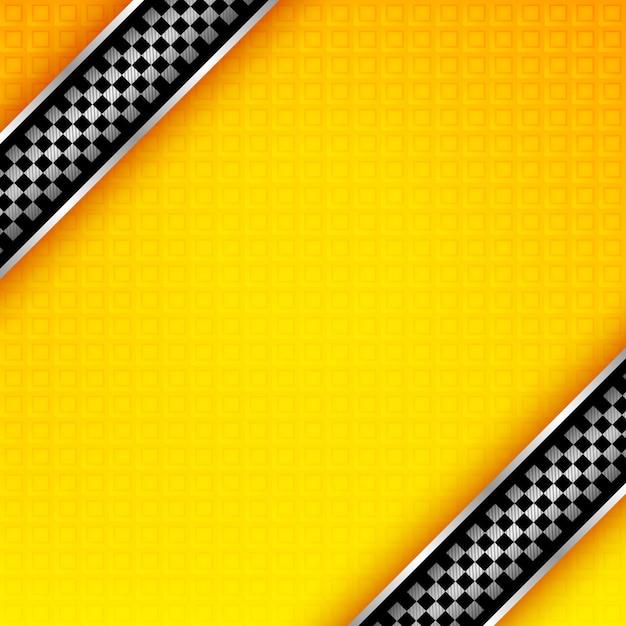 Modèle de fond de rubans de course Vecteur Premium
