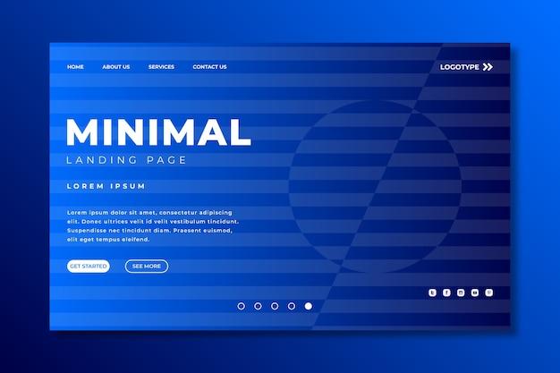 Modèle géométrique minimal de la page de destination Vecteur gratuit