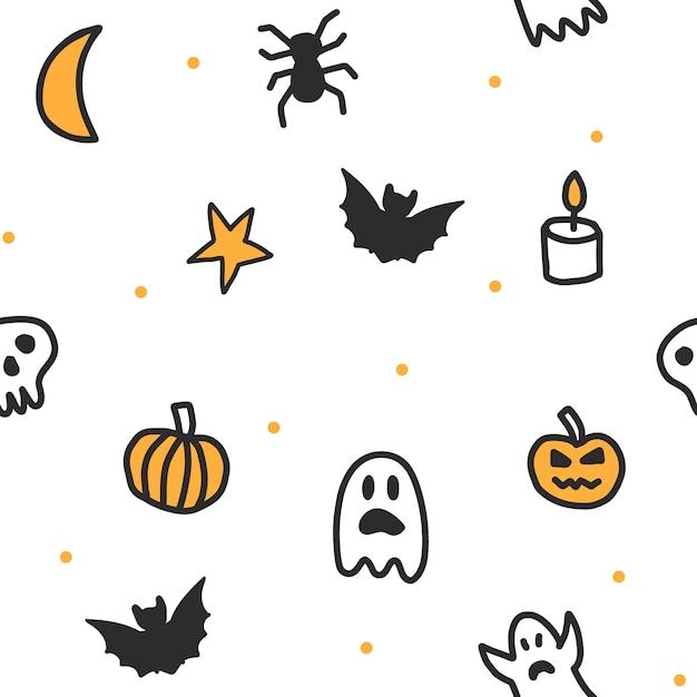 Modèle de halloween sans soudure Vecteur Premium