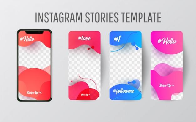 Modèle d'histoire instagram pour les médias sociaux Vecteur Premium