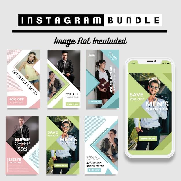 Modèle d'histoire de mode instagram minimalis Vecteur Premium