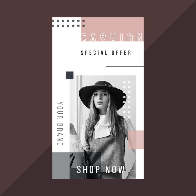 Modèle D'histoire De Mode Instagram Vecteur gratuit