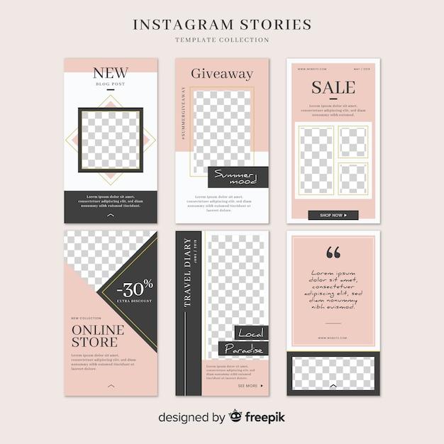 Modèle D'histoires Instagram Avec Cadre Vide Vecteur gratuit
