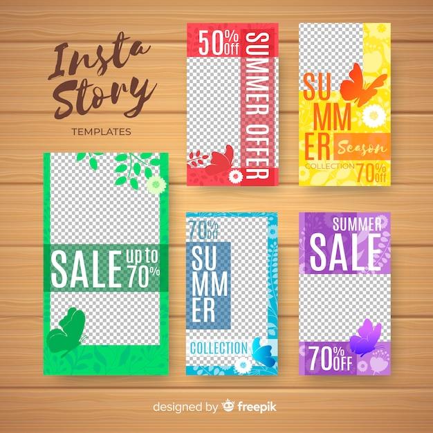 Modèle d'histoires d'instagram de vente d'été Vecteur gratuit
