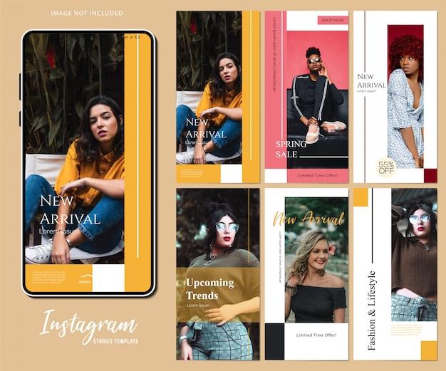 Modèle d'histoires instagram Vecteur Premium
