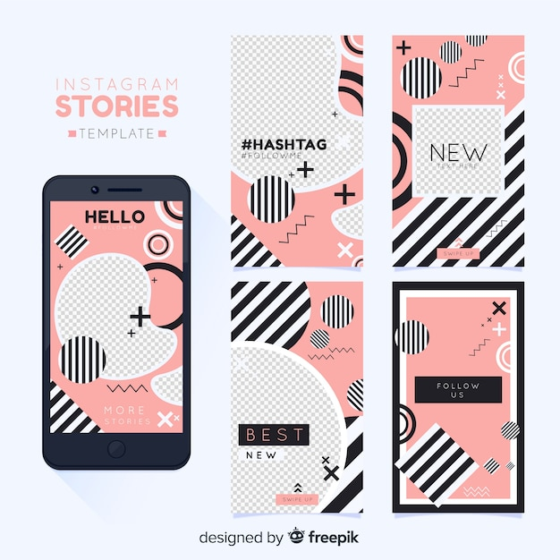 Modèle d'histoires instagram Vecteur gratuit