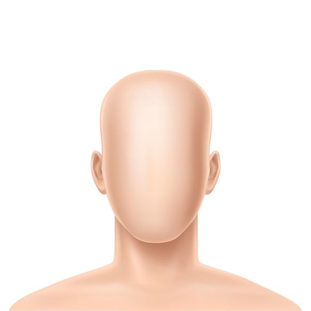 Modèle humain réaliste 3d sans visage Vecteur gratuit