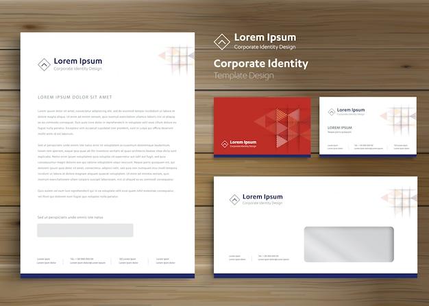 Modèle d'identité d'entreprise entreprise papeterie classique Vecteur Premium