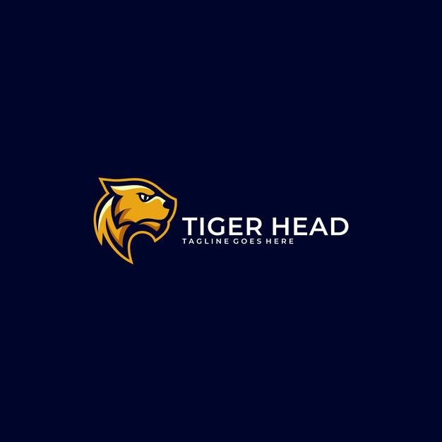 Modèle d'illustration abstraite concept tête de tigre. Vecteur Premium