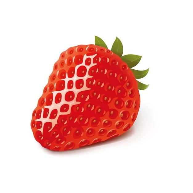 Modèle d'illustration design fraise vector Vecteur Premium