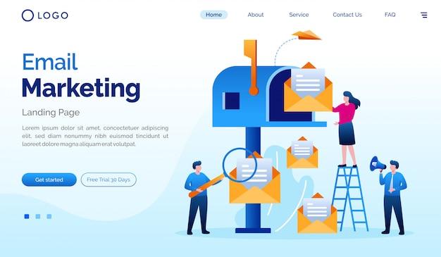 Modèle D'illustration Vectorielle De Site Web D'email Marketing Vecteur Premium