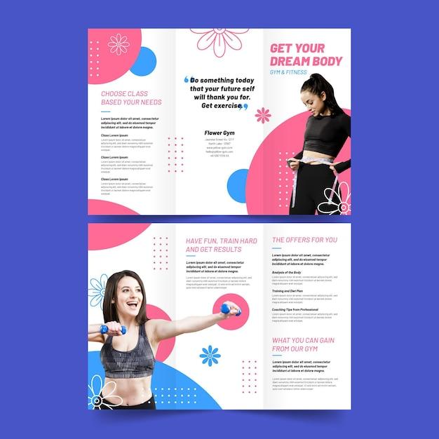 Modèle D'impression De Brochure à Trois Volets Obtenez Votre Corps De Rêve Vecteur gratuit