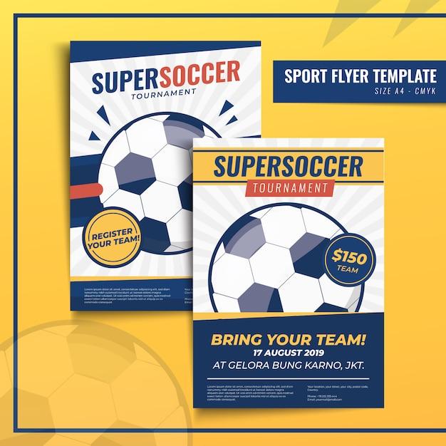 Modèle d'impression de flyer ou d'affiche de sport Vecteur Premium