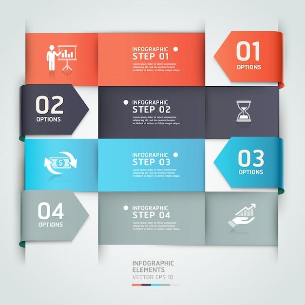 Modèle d'infographie d'affaires flèche abstraite. Vecteur Premium