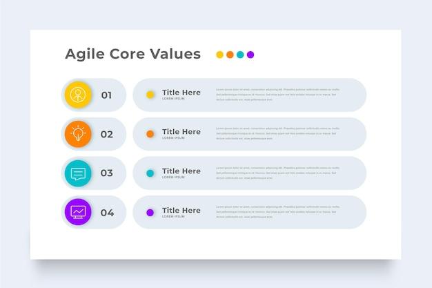 Modèle D'infographie Agile Métier Vecteur gratuit