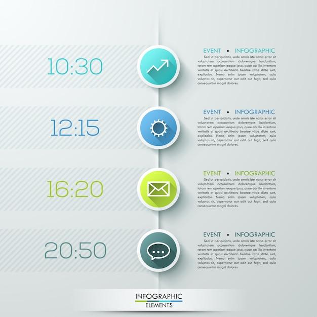 Modèle d'infographie de cercle d'affaires moderne Vecteur Premium