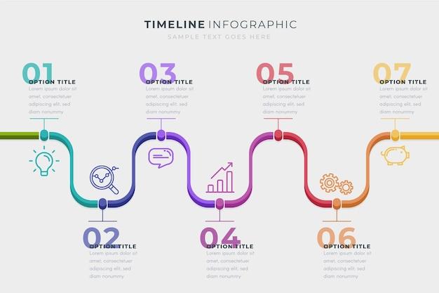 Modèle D'infographie De Chronologie Commerciale Vecteur gratuit
