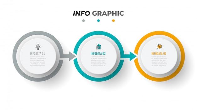 Modèle D'infographie De Chronologie Vecteur Premium