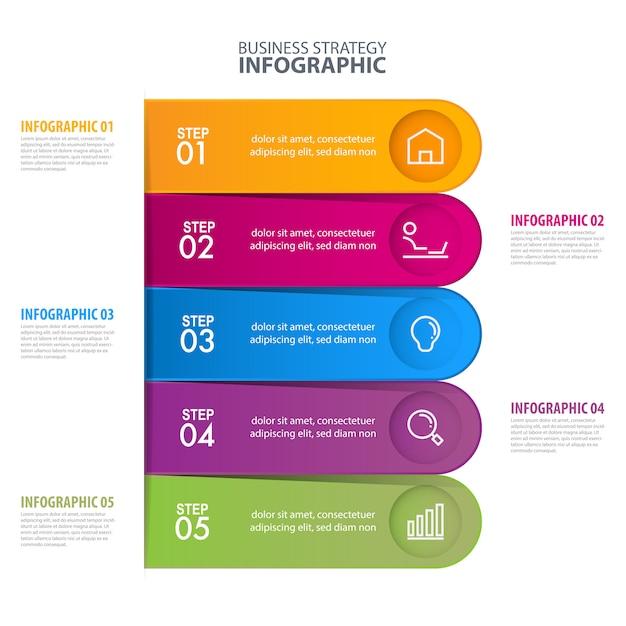 Modèle d'infographie commerciale Vecteur Premium