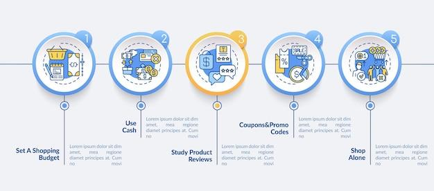 Modèle D'infographie De Conseils D'achat Vecteur Premium