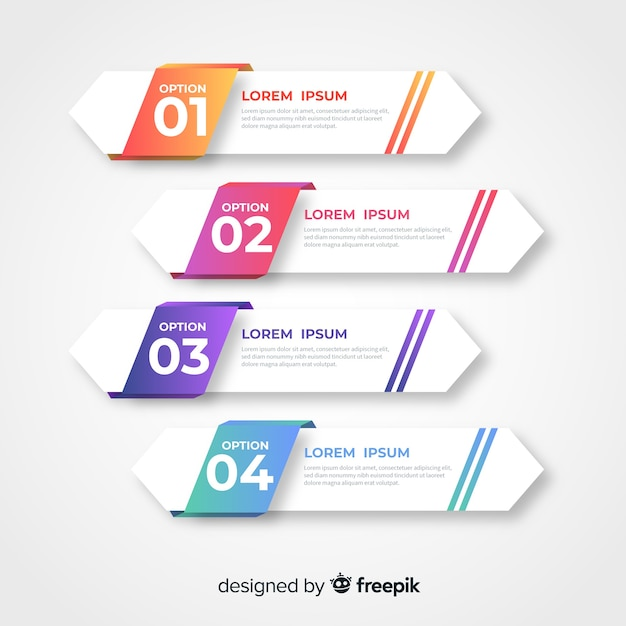 Modèle D'infographie D'entreprise, Composition D'éléments Infographiques Vecteur Premium