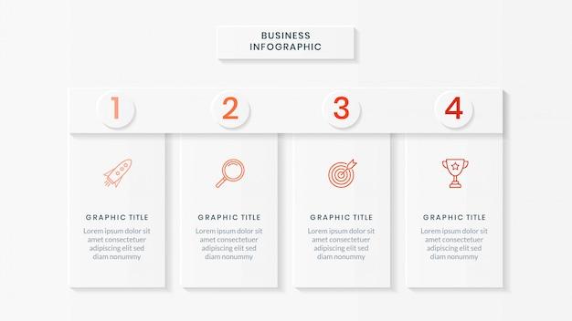 Modèle D'infographie D'entreprise Vecteur Premium