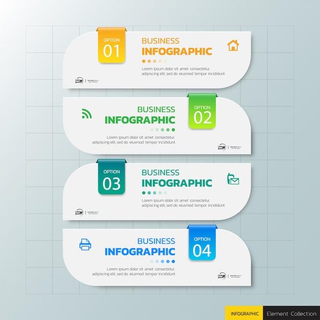 Modèle d'infographie d'étape Vecteur Premium