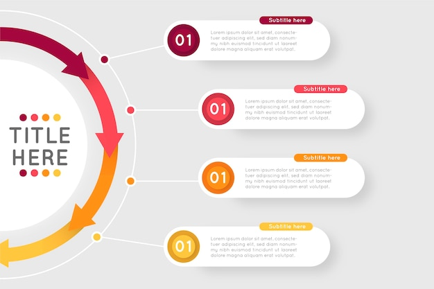 Modèle D'infographie étapes De Conception Plate Vecteur gratuit
