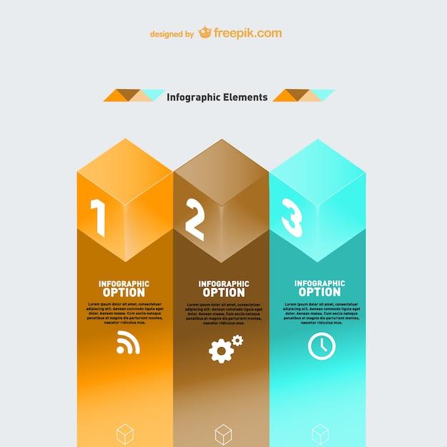 Modèle De L'infographie Géométrique Moderne Vecteur gratuit