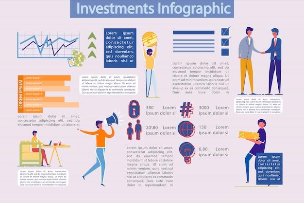 Modèle D'infographie Des Investissements Commerciaux Vecteur Premium