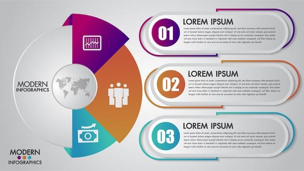 Modèle infographie métier pour diagramme Vecteur Premium