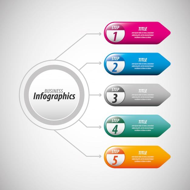 Modèle d'infographie métier Vecteur Premium