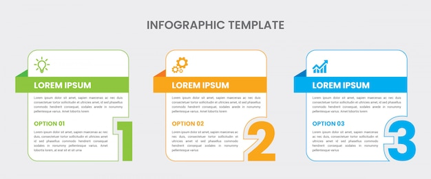 Modèle D'infographie Minime Dans Un Style Plat Vecteur Premium