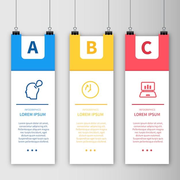 Modèle d'infographie modèle d'affiche suspendu Vecteur gratuit