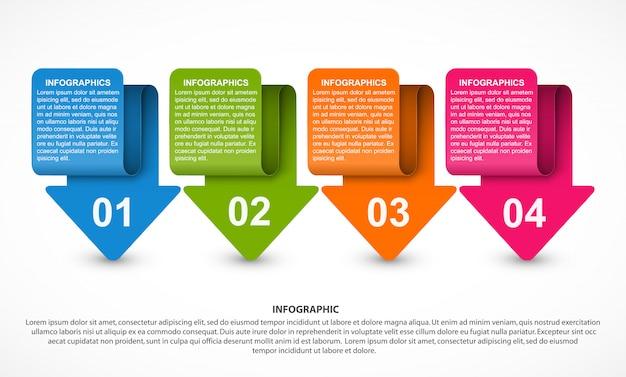 Modèle d'infographie options abstraites. Vecteur Premium