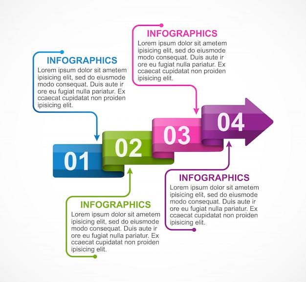 Modèle d'infographie des options commerciales Vecteur Premium
