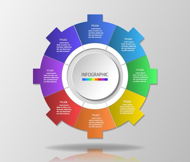 Modèle d'infographie pour la présentation Vecteur Premium