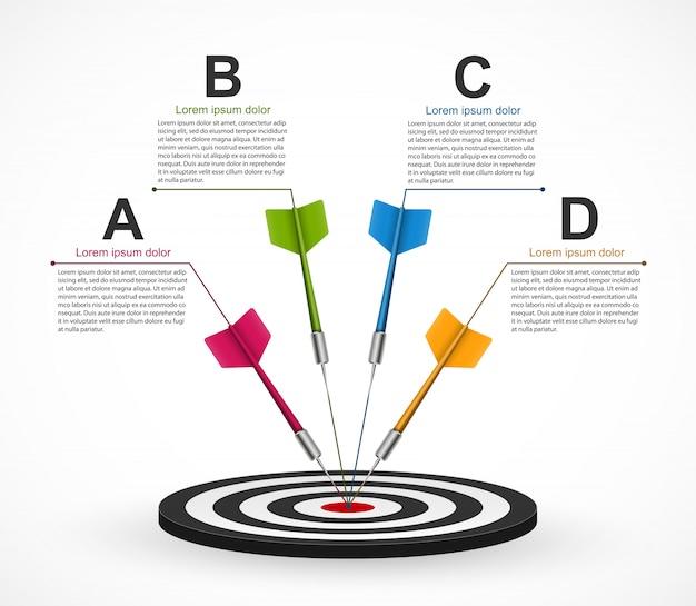 Modèle d'infographie pour des présentations d'entreprises. Vecteur Premium