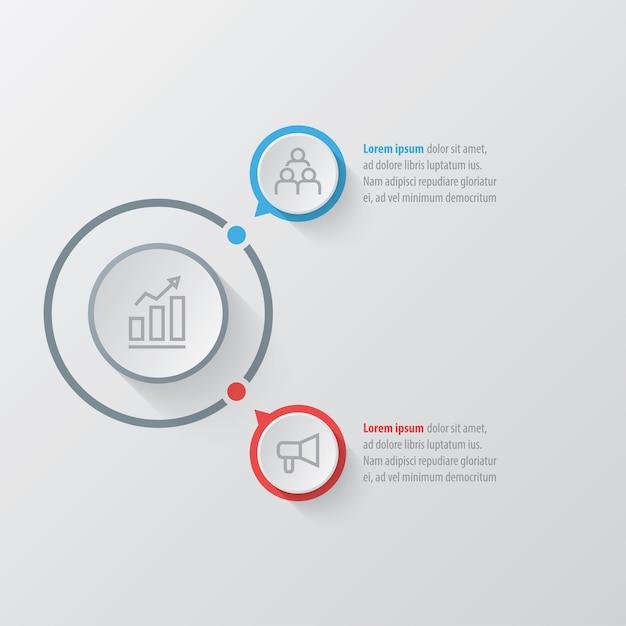 Modèle D'infographie De Présentation Avec 2 Options Vecteur Premium
