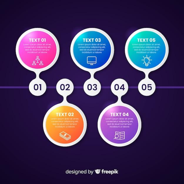 Modèle d'infographie de présentation entreprise calendrier Vecteur gratuit