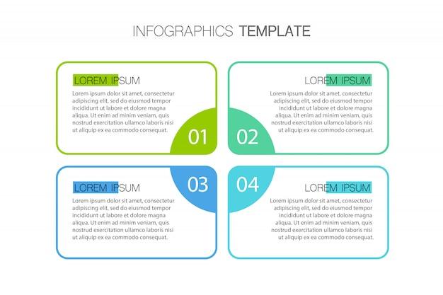 Modèle D'infographie De Présentation D'entreprise Avec Des Options. Illustration. Vecteur Premium