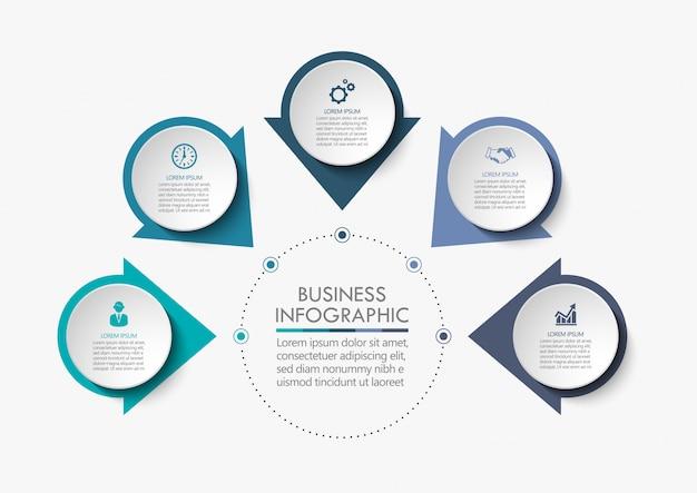 Modèle d'infographie de présentation entreprise Vecteur Premium