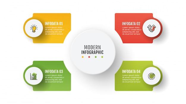 Modèle D'infographie De Présentation Vecteur Premium