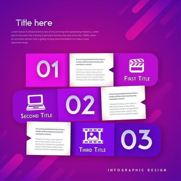 Modèle d'infographie vectorielle moderne Vecteur Premium